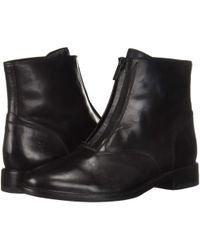 Frye - Kelly Front Zip Bootie (black Dip-dyed Leather) Women's Zip Boots - Lyst