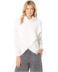 Nally & Millie - Brushed Overlay Turtleneck Top (cream) Women's Clothing - Lyst