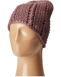 The North Face - Chunky Knit Beanie (black Plum (prior Season)) Beanies - Lyst