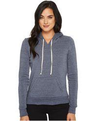 Alternative Apparel - Athletics Hoodie (eco Black) Women's Sweatshirt - Lyst
