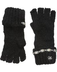 Betsey Johnson - On The Rocks Half Finger Gloves - Lyst