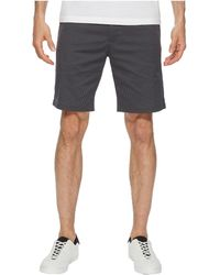 Calvin Klein - Flat Front Striped Twill Shorts (black) Men's Shorts - Lyst