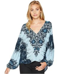 Free People - Birds Of A Feather Top (blue) Women's Clothing - Lyst