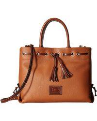 Dooney & Bourke - Wakefield Tassel Tote (fog/chestnut Trim) Tote Handbags - Lyst