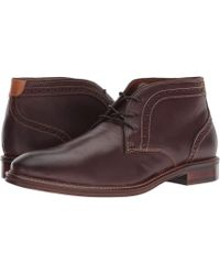 Johnston & Murphy - Warner Chukka (mahogany Full Grain) Men's Dress Lace-up Boots - Lyst