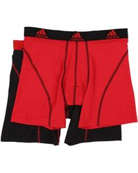 cbaa6b3be359 adidas - Sport Performance Climalite 2-pack Boxer Brief (real Red black
