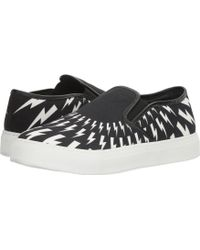 Neil Barrett - Thunderbolt Canvas Slip-on - Lyst