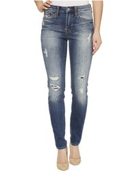Jean Shop - Nikki Skinny Cutoff In Hobo - Lyst