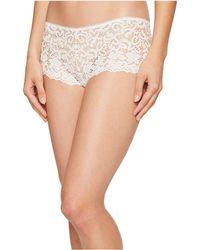 DKNY - Classic Lace Cheeky Boyshorts (poplin White) Women's Underwear - Lyst