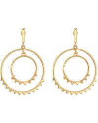 Rebecca Minkoff - Ellie Double Circle Drop Earrings (gold) Earring - Lyst