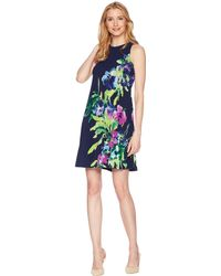 Lauren by Ralph Lauren - Great Outdoors Floral - Suzan Dress (lighthouse Navy/blue/multi) Women's Dress - Lyst