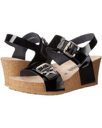 Mephisto - Lissandra (black Patent) Women's Wedge Shoes - Lyst