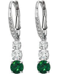 Swarovski - Attract Trilogy Round Pierced Earrings (blue) Earring - Lyst
