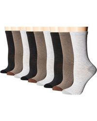 Ecco - Stripe Crew Socks - 9 Pack - Lyst