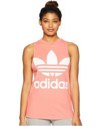 d2d513d44b017 adidas Originals - Trefoil Tank Top (white super Blue) Women s Sleeveless -  Lyst