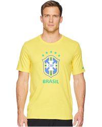 cfd68d3f6b0881 Nike - Cbf Tee Evergreen Crest (midwest Gold) Men s T Shirt - Lyst