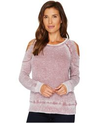 Allen Allen | Cold Shoulder Sweatershirt | Lyst