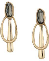 Robert Lee Morris - Stone Geometric Drop Earrings (black Diamond) Earring - Lyst