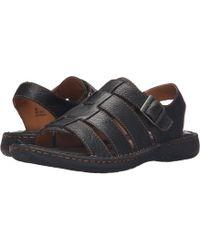 971de43a39a320 Born - Joshua (black Full Grain Leather) Men s Sandals - Lyst