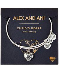 ALEX AND ANI - Path Of Symbols - Cupid's Heart Ii Charm Bangle - Lyst