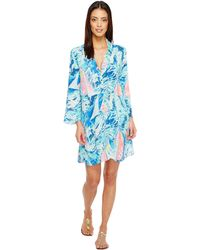 4d0f73503c8 Lilly Pulitzer - Emerald Beach Cover-up Tunic (sparkling Blue Hey Bay Bay)