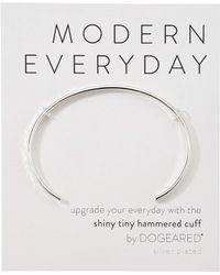 Dogeared - Modern Everyday, Hammered Cuff Bracelet (sterling Silver) Bracelet - Lyst