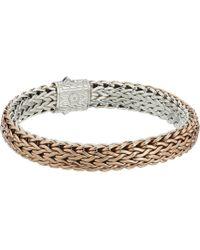 John Hardy - Classic Chain 11mm Reversible Bracelet (silver/bronze) Bracelet - Lyst