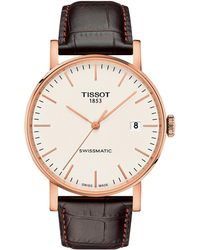 Tissot - Everytime Swissmatic - T1094073603100 (silver/brown) Watches - Lyst