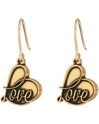 ALEX AND ANI - Love Hook Earrings (rafaelian Gold) Earring - Lyst