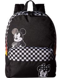 e7d72fb995b Vans - Mickey s 90th Punk Mickey Realm Backpack (black) Backpack Bags - Lyst