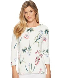 Joules | Harbour Printed Jersey Top | Lyst