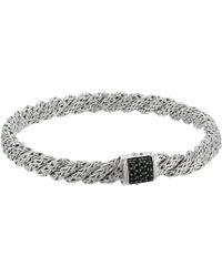 John Hardy - Twist Chain Lava Flat Bracelet With Black Sapphire (silver) Bracelet - Lyst