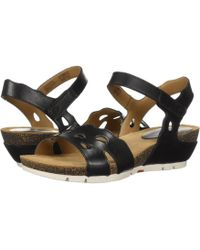 Josef Seibel - Hailey 25 (black) Women's Wedge Shoes - Lyst