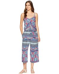 Tommy Bahama - Riviera Tile Crop Jumpsuit Cover-up - Lyst