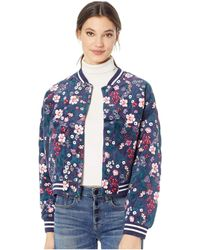 Juicy Couture - Floral Quilted Bomber Jacket (regal Spellbound Floral) Women's Coat - Lyst
