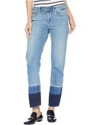 Two By Vince Camuto - Light Indigo Color Block Release Hem Crop Jeans In Spectrum Blue (spectrum Blue) Women's Jeans - Lyst