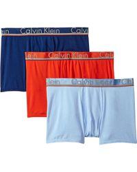 Calvin Klein - Comfort Microfiber 3-pack Trunk (commodore Blue/dark Knight/monument) Men's Underwear - Lyst