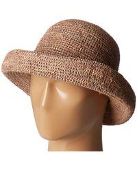 1bc7dd63dd1c04 San Diego Hat Company Chm5 Cotton Crochet Medium Brim Sun Hat in Black -  Lyst