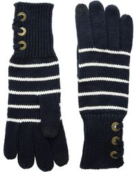 Lauren by Ralph Lauren - Lace-up Touch Gloves With Metal Grommets (navy/ivory) Extreme Cold Weather Gloves - Lyst