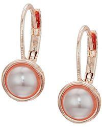 The Sak - Pearl Leverback Earrings - Lyst