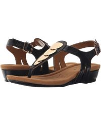 Comfortiva - Summit (black Goat Leather Pull Up) Women's Sandals - Lyst