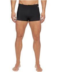 Nike - Surge Color Block Poly Square Leg Brief (black) Men's Swimwear - Lyst