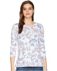 Joules - Soleil Lightweight Jersey Top (white Indienne Floral) Women's Clothing - Lyst