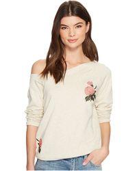 Lucky Brand - Embroidered Rose Sweatshirt (natural Multi) Women's Sweatshirt - Lyst