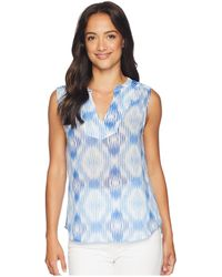 Tommy Bahama - Izabella Ikat Sleeve Top (palace Blue) Women's Clothing - Lyst