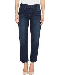 NYDJ - Jenna Straight Ankle W/raw Hem In Bezel (bezel) Women's Jeans - Lyst