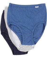 Jockey - Elance(r) Brief 3-pack (perennial Purple/lilac Meadows/pink Pearl) Women's Underwear - Lyst