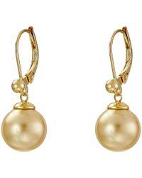 Majorica - 10mm S.s.w. Drop E/w Earrings (white) Earring - Lyst