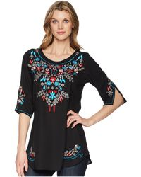 Scully - Bara Embroidered Blouse - Lyst