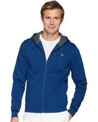 Lacoste - Long Sleeve Molleton Gratte Hoodie W/ Novak Graphic On Back - Lyst